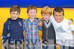 LOCAL LADS: Ian Leonard, Luke McNamara, Leonard McGaley and Tommy Finn having fun at the Family Fun Day on Sunday..