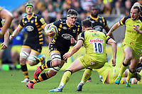 Guy Thompson of Wasps in possession. Aviva Premiership semi final, between Wasps and Leicester Tigers on May 20, 2017 at the Ricoh Arena in Coventry, England. Photo by: Patrick Khachfe / JMP