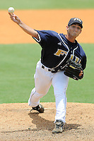 11 May 2008: Florida International starting pitcher Eric Horstmann (31) throws early in the game against South Alabama at University Park Stadium in Miami, Florida.