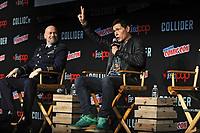Steven S. DeKnight und Burn Gorman beim Panel zu 'Pacific Rim: Uprising / Pacific Rim 2' auf der New York Comic Con 2017 im Javits Center. New York, 06.10.2017