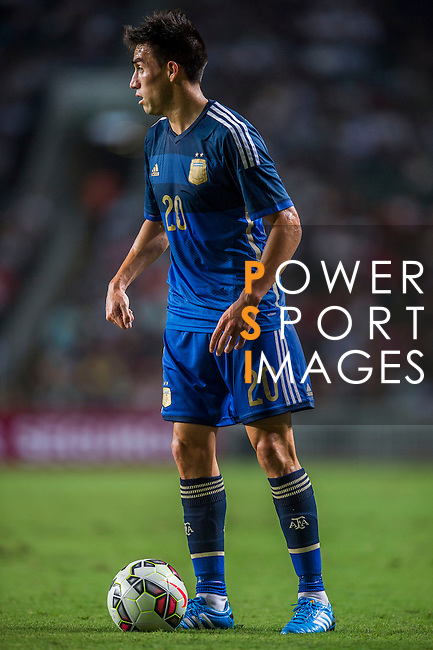 Nicolas Gaitan of Argentina in action during the HKFA Centennial Celebration Match between Hong Kong vs Argentina at the Hong Kong Stadium on 14th October 2014 in Hong Kong, China. Photo by Aitor Alcalde / Power Sport Images