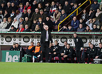 2nd February 2020; Turf Moor, Burnley, Lancashire, England; English Premier League Football, Burnley versus Arsenal; Burnley manager Sean Dyche signals to his players