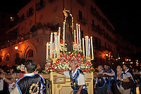 Procession in the historic city center of Palermo.<br />