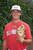 Caleb Sloan (36) of Regis Jesuit High School in Centennial, Colorado poses for a photo before the Under Armour All-American Game presented by Baseball Factory on July 23, 2016 at Wrigley Field in Chicago, Illinois.  (Mike Janes/Four Seam Images)