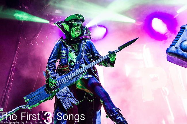 Piggy D. of Rob Zombie performs during the 2013 Mayhem Festival at Klipsch Music Center in Indianapolis, Indiana.