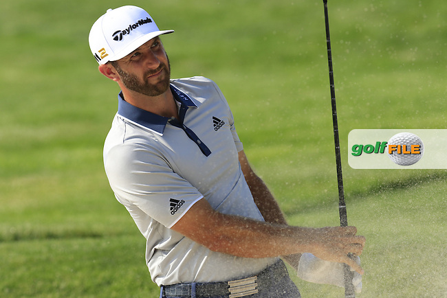 Dustin Johnson (USA) in a bunker during Wednesday's Practice Day of the 2016 U.S. Open Championship held at Oakmont Country Club, Oakmont, Pittsburgh, Pennsylvania, United States of America. 15th June 2016.<br /> Picture: Eoin Clarke | Golffile<br /> <br /> <br /> All photos usage must carry mandatory copyright credit (&copy; Golffile | Eoin Clarke)