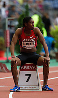 08 JUL 2011 - PARIS, FRA - Caster Semenya waits for the start of the women's 800m race at the Meeting Areva round of the Samsung Diamond League (PHOTO (C) NIGEL FARROW)