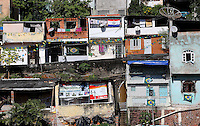 Favelas are seen near Arena Fonte Nova, Salvador