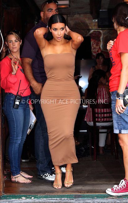 ACEPIXS.COM<br /> <br /> <br /> June 27 2014, New York City<br /> <br /> Kim Kardashian out in the Meat Packing District on June 27 2014 in New York City<br /> <br /> <br /> By Line: Nancy Rivera/ACE Pictures<br /> <br /> ACE Pictures, Inc.<br /> www.acepixs.com<br /> Email: info@acepixs.com<br /> Tel: 646 769 0430