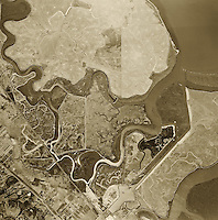 aerial photograph Foster City, San Mateo county, California, 1946