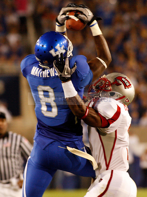 in the first half of the UK vs WKU home game on  Saturday, September 11, 2010. Photo by Brandon Goodwin | Staff