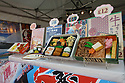 A selection of Bento boxes available on a food stall at the 10th Japanese Matsuri Festival, Trafalgar Square, London.