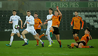 Pictured: Oliver McBurnie of Swansea City (9) runs to the ball from a cross Monday 13 March 2017<br /> Re: Premier League 2, Swansea City U23 v Wolverhampton Wanderers FC at the Liberty Stadium, Swansea, UK