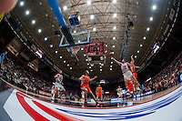 VALENCIA, SPAIN - OCTOBER 20: John Shurna and Drake Diener during EUROCUP match between Valencia Basket Club and CAI Zaragozaat Fonteta Stadium on   October 22, 2015 in Valencia, Spain
