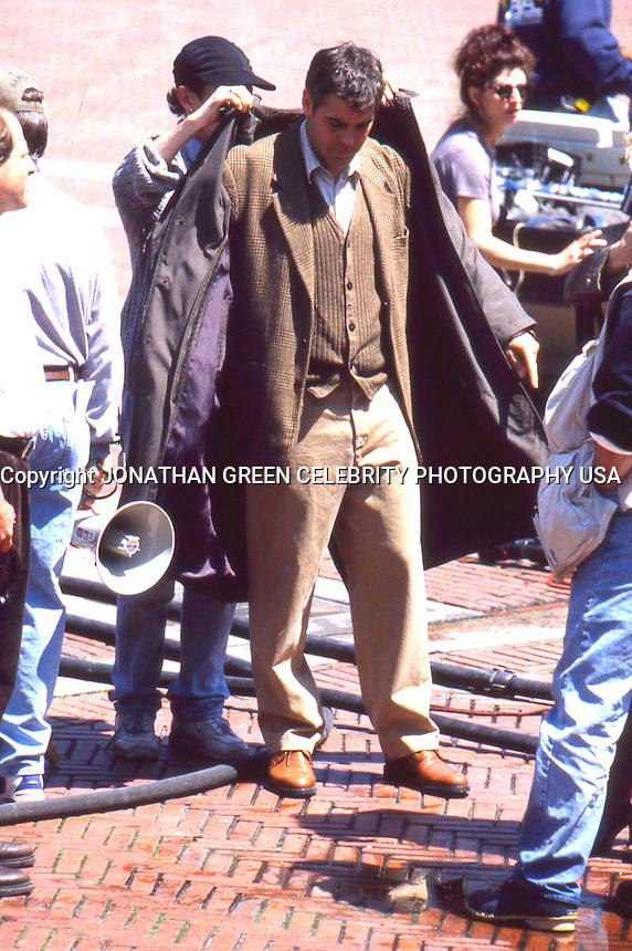 George Clooney on One Fine Day movie<br /> set 1996 by Jonathan Green