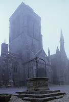 Europe/France/Bretagne/29/Finistère/Locronan : Eglise Saint-Ronan (XV°) voûtée sur arc d'ogive