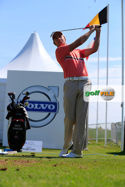 Recent double winner Brett Rumford (AUS) in action on the practice range during Thursday's seeded group of the 2013 Volvo World Match Play Championship held  at the Thracian Cliffs Golf & Beach Resort, Kavarna, Bulgaria, 16th May 2013..Picture: Eoin Clarke www.golffile.ie.