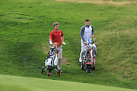 Sean Flanagan (Co. Sligo) and Liam Grehan (Mullingar) on the 3rd during Matchplay Round 1 of the South of Ireland Amateur Open Championship at LaHinch Golf Club on Friday 22nd July 2016.<br /> Picture:  Golffile | Thos Caffrey<br /> <br /> All photos usage must carry mandatory copyright credit   (© Golffile | Thos Caffrey)