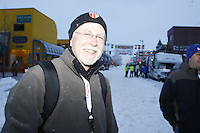 Saturday March 6 , 2010   Public relations diector Chas St. George during the ceremonial start of the 2010 Iditarod in Anchorage , Alaska