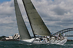 63 feet Loki during the first test sail in the Sydney Harbour..McConaghy Boats in Mona Vale, Australia built the new Reichel-Pugh 63 Loki For Stephen Ainsworth.