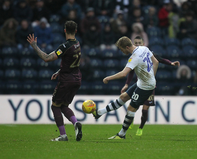 Preston North End's Jayden Stockley <br /> <br /> Photographer Mick Walker/CameraSport<br /> <br /> The EFL Sky Bet Championship - Preston North End v Swansea City - Saturday 12th January 2019 - Deepdale Stadium - Preston<br /> <br /> World Copyright &copy; 2019 CameraSport. All rights reserved. 43 Linden Ave. Countesthorpe. Leicester. England. LE8 5PG - Tel: +44 (0) 116 277 4147 - admin@camerasport.com - www.camerasport.com