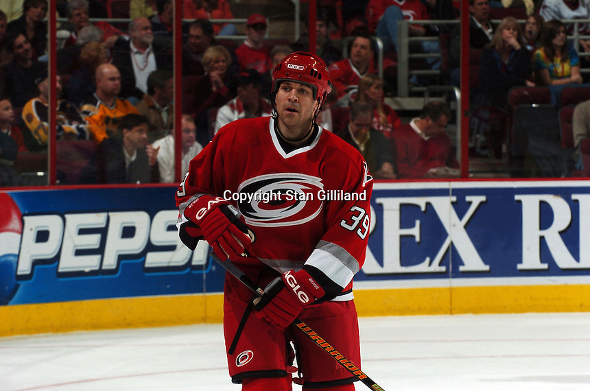 Carolina Hurricanes' Doug Weight skates to the bench during a game against the Boston Bruins at the RBC Center in Raleigh, NC Wednesday, March 1, 2006. The Hurricanes won 4-3...