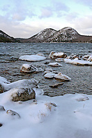 Winter at Jordan Pond & the Bubbles  #A15
