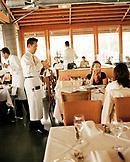 USA, California, Los Angeles, interior shot of The Lobster Restaurant in Santa Monica