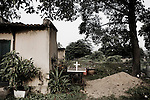 A cross at YMCA relief comittee  in Orissa's capital Bhubaneswar. Nov.04, 2008..