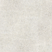 Cosmos, a hand-cut stone mosaic, shown in polished Afyon White.