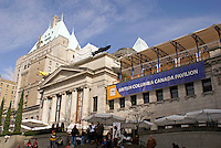 The British Columbia Canada Pavilion and the Vancouver Art Gallery, 2010 Winter Games, Vancouver, British Columbia Canada.