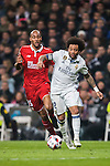 Marcelo Vieira Da Silva of Real Madrid fights for the ball with Steven N'Kemboanza Mike N'Zonzi of Sevilla FC during their Copa del Rey Round of 16 match between Real Madrid and Sevilla FC at the Santiago Bernabeu Stadium on 04 January 2017 in Madrid, Spain. Photo by Diego Gonzalez Souto / Power Sport Images