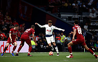 Tottenham Hotspur's Dele Alli, second from right, is challenged by Liverpool's Joel Matip second from left, during the UEFA Champions League final football match between Tottenham Hotspur and Liverpool at Madrid's Wanda Metropolitano Stadium, Spain, June 1, 2019.<br /> UPDATE IMAGES PRESS/Isabella Bonotto