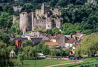 Wales, Chepstow.  Chepstow Castle, Oldest Stone Castle in Britain.  Begun 1067, mostly 13th century.