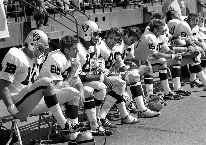 Oakland Raider bench..1972<br />