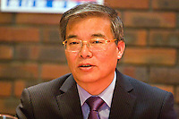 Ambassador to UK His Excellency Mr. Hyon Hak Bong of the Democratic People's Republic of Korea in Southall speaking at a CPGBML Saklatvala Hall Commemoration which celebrated the centenary of  Kim Il-sung's birth, Easter Sunday 2012