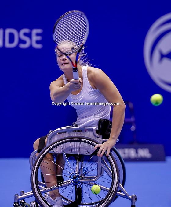 Rotterdam, Netherlands, December 15, 2017, Topsportcentrum, Ned. Loterij NK Tennis, Wheelchair woman's single semi final Diede de Groot (NED)<br /> Photo: Tennisimages/Henk Koster
