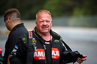 May 4, 2019; Commerce, GA, USA; NHRA top fuel driver Terry McMillen reacts during qualifying for the Southern Nationals at Atlanta Dragway. Mandatory Credit: Mark J. Rebilas-USA TODAY Sports