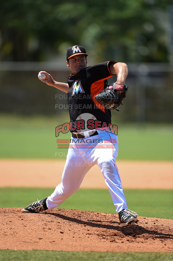 Miami Marlins pitcher Nick Williams (71) during a minor league spring training game against the New York Mets on March 30, 2015 at the Roger Dean Complex in Jupiter, Florida.  (Mike Janes/Four Seam Images)