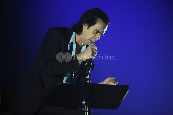LONDON, ENGLAND - SEPTEMBER 30: Nick Cave of 'Nick Cave &amp; The Bad Seeds' performing at the O2 Arena on September 30, 2017 in London, England.<br /> CAP/MAR<br /> &copy;MAR/Capital Pictures /MediaPunch ***NORTH AND SOUTH AMERICAS ONLY***