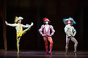 London, UK. 22.11.2013. Stuttgart Ballet present THE TAMING OF THE SHREW at Sadler's Wells. Picture shows: Ozkan Ayik (Gremio), Roman Novitzky (Hortensio) and David Moore (Lucentio). Photograph © Jane Hobson.