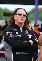Apr 24, 2015; Baytown, TX, USA; NHRA  sponsor Josh Comstock during qualifying for the Spring Nationals at Royal Purple Raceway. Mandatory Credit: Mark J. Rebilas-