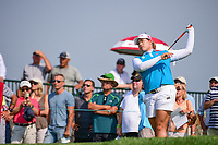 Ariya Jutanugarn (THA) watches her tee shot on 16 during Thursday's first round of the 72nd U.S. Women's Open Championship, at Trump National Golf Club, Bedminster, New Jersey. 7/13/2017.<br /> Picture: Golffile | Ken Murray<br /> <br /> <br /> All photo usage must carry mandatory copyright credit (&copy; Golffile | Ken Murray)