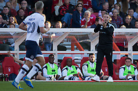 Millwall manager Neil Harris encourages Steve Morison of Millwall during the Sky Bet Championship match between Nottingham Forest and Millwall at the City Ground, Nottingham, England on 4 August 2017. Photo by James Williamson / PRiME Media Images.