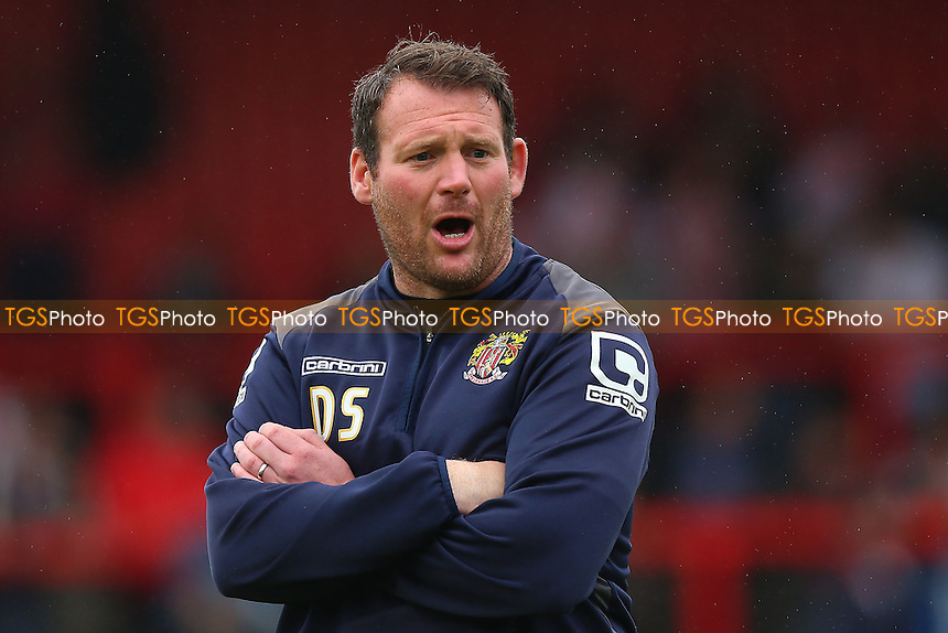 Stevenage manager Darren Sarll during Stevenage vs Crawley Town, Sky Bet EFL League 2 Football at the Lamex Stadium on 10th September 2016