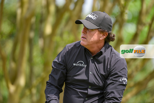 Phil Mickelson (USA) watches his tee shot on 3 during day 2 of the WGC Dell Match Play, at the Austin Country Club, Austin, Texas, USA. 3/28/2019.<br /> Picture: Golffile | Ken Murray<br /> <br /> <br /> All photo usage must carry mandatory copyright credit (© Golffile | Ken Murray)