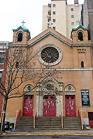 New York, NY -  15 December 2011 Our Lady of Vilnius, Roman Catholic Church, is slated to be demolished by the New York Archdiocese. The state's highest court, the Court of Appeals in Albany, decided unanimously on Tuesday to deny the move by the Lithuanian-American parishioners of Our Lady of Vilnius to overturn the Catholic Archdiocese of New York's decision to demolish the 100-year-old Gothic Revival church near the entrance to the Holland Tunnel.