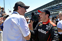 Verizon IndyCar Series<br /> Indianapolis 500 Carb Day<br /> Indianapolis Motor Speedway, Indianapolis, IN USA<br /> Friday 26 May 2017<br /> Pit-Stop Competition winner Will Power, Team Penske Chevrolet with Tim Cindric<br /> World Copyright: F. Peirce Williams