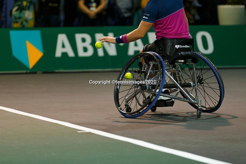 Rotterdam, The Netherlands, 14 Februari 2020, ABNAMRO World Tennis Tournament, Ahoy, Wheelchair: Alfie Hewett (GBR).<br /> Photo: www.tennisimages.com