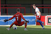 Harry Phipps of Dagenham and Redbridge is denied by Ben Killip of Hartlepool United during Dagenham & Redbridge vs Hartlepool United, Vanarama National League Football at the Chigwell Construction Stadium on 14th September 2019